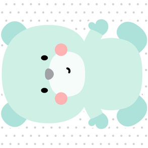 bear mint front mod baby » plush + pillows // fat quarter