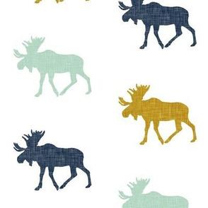 multi moose || navy mint mustard