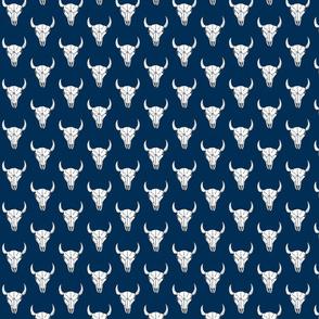 Bull Skull - Navy
