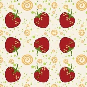 Summer Strawberry Swirl Pattern