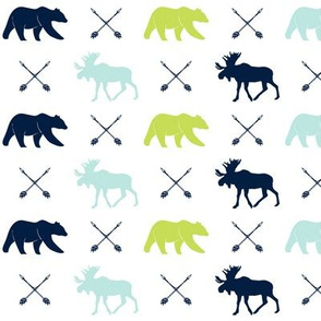 moose, bear, and arrows (small scale) || the bear creek collection