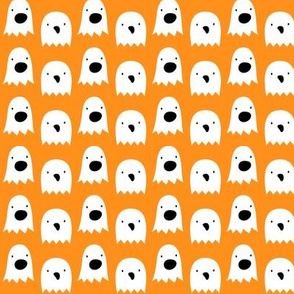 ghosts on orange » halloween
