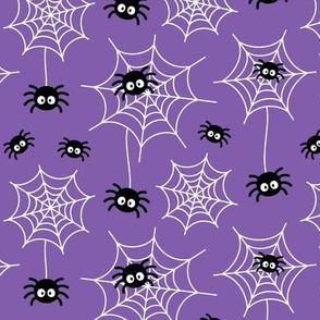 spiders and webs on purple » halloween