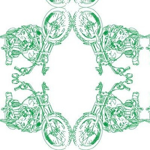 Damask - Moto Damask in  Green