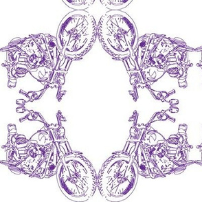 Damask - Moto Damask in Purple