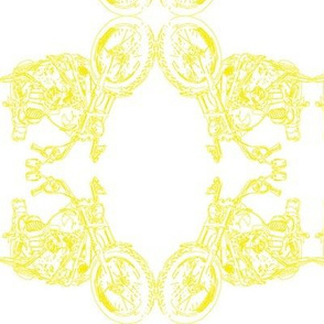 Damask - Moto Damask in Yellow