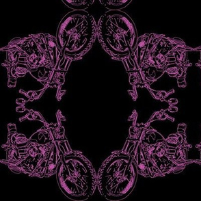 Damask - Moto Damask in Purple on Black