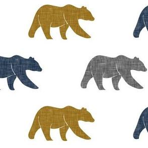 multi bear    navy grey gold