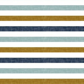multi stripes  || navy, dusty blue, and gold