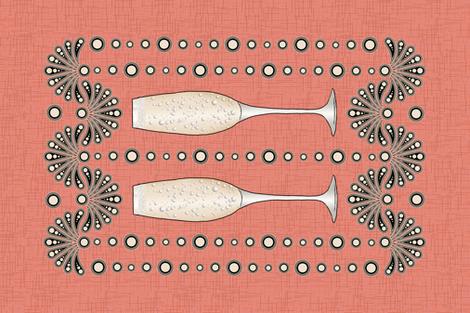 Champagne Tea Towel