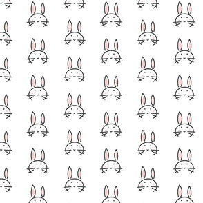 Cute line bunny
