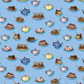 Tea & Cakes Blue