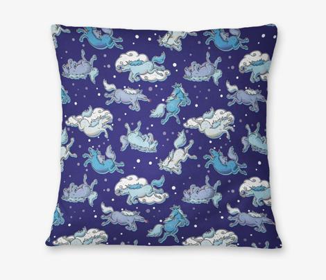 Bad Ass Unicorns Midnight Blue