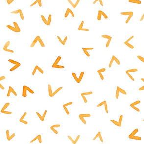"""Catch My Orange Wave"" Summer Time Geometric Pattern"