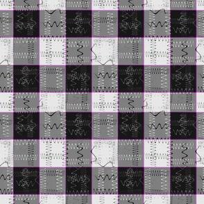 Symbolic Gingham (Violet Line)