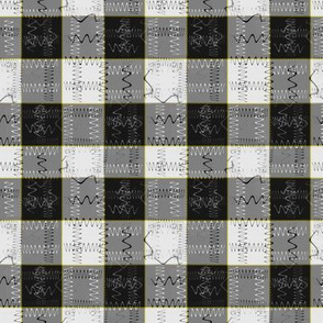 Symbolic Gingham (Yellow Line)