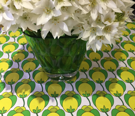 Large Railroad  Green Tulips_Miss Chiff Designs