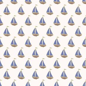 Small boats.