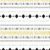 Aztec Stripe in Black + Mint + Grey + Mustard