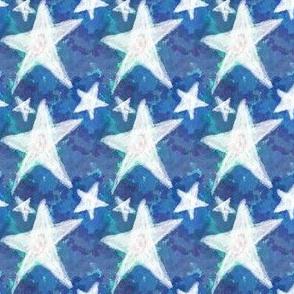 Project 85 | Chalk Stars on Cerulean Blue