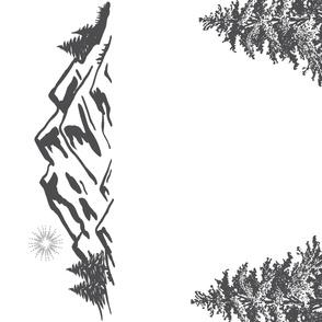 Monochrome Woodland Wreath Swaddle