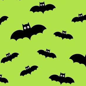 bats on lime green » halloween