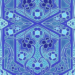 Art Nouveau Garden Blues