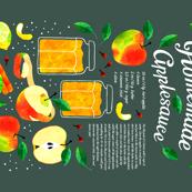 Homemade Applesauce recipe tea towel