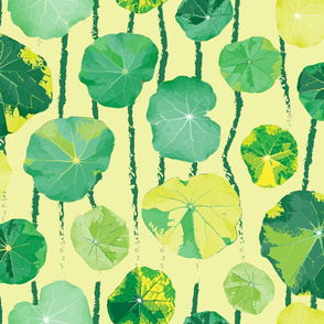 LG Water color Lily Pad Leaves_Miss Chiff Designs