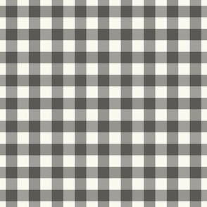 Charcoal Cream Buffalo Check