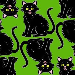 Halloween Kitten green