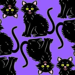 Halloween Kitten purple