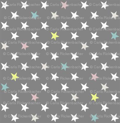 stars sterne grau bunt wallpaper musterkitz. Black Bedroom Furniture Sets. Home Design Ideas