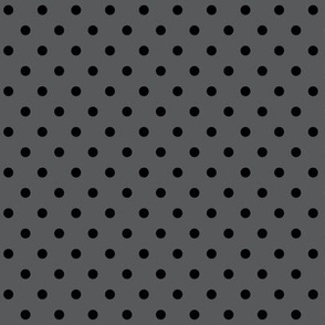halloween » dotty black on dark grey - monochrome