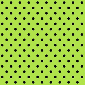 halloween » dotty black on lime green
