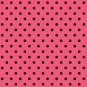halloween » dotty black on hot pink