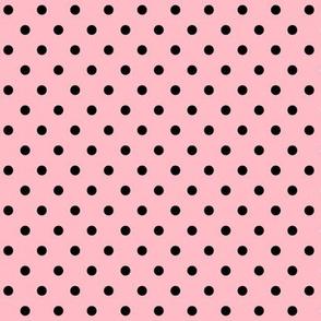 halloween » dotty black on light baby pink