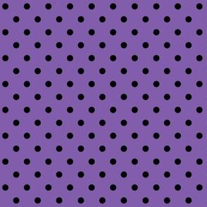 halloween » dotty black on purple