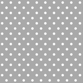 halloween » dotty white on light slate grey - monochrome