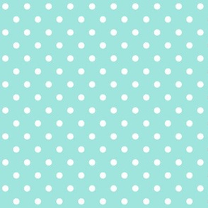 halloween » dotty white on light baby teal blue