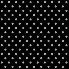 halloween » dotty light slate grey on black - monochrome