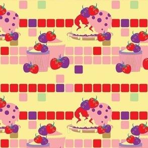 Bright Strawberry Sweet Treats Pattern