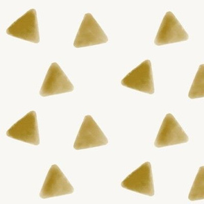 Mustard triangles watercolor geometric  golden honey yellow