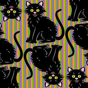 Halloween Kitten stripes