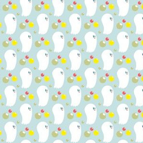 Washing Ghost / Soap Bubble Mint Illustration mini Kid Pattern Design