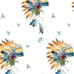 Young Souls Run Wild & Free - Indian Headdress
