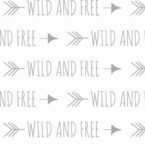 Wild and Free Arrows - Typography - grey/white