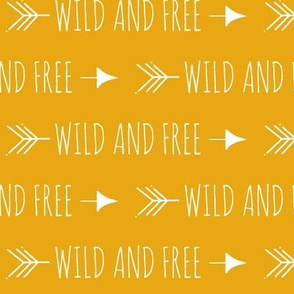 Wild and Free Arrow - gold, mustard, white