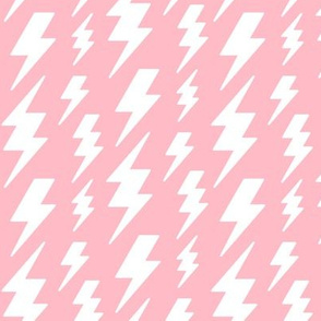 lightning bolts white on light baby pink » halloween