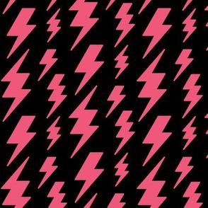 lightning bolts hot pink on black » halloween